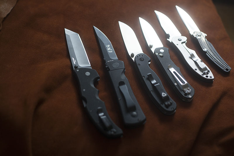 Knife Drop: Black and Steel