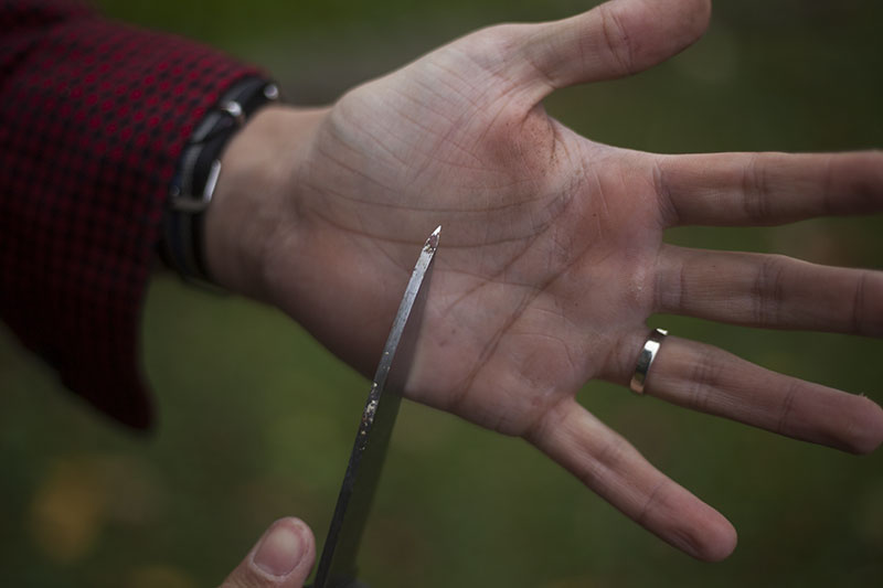 handmade hand crafted usa knife l.t. wright genesis bushcraft