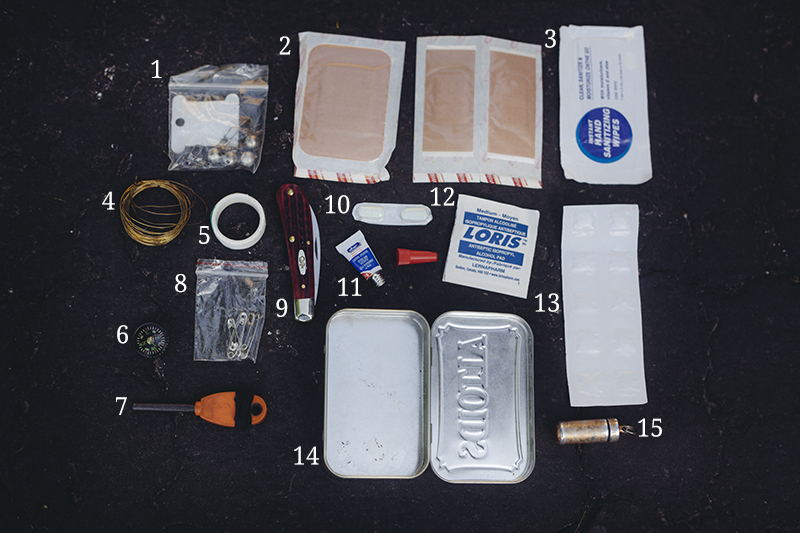 items list altoids tin survival kit everyday carry small edc medical