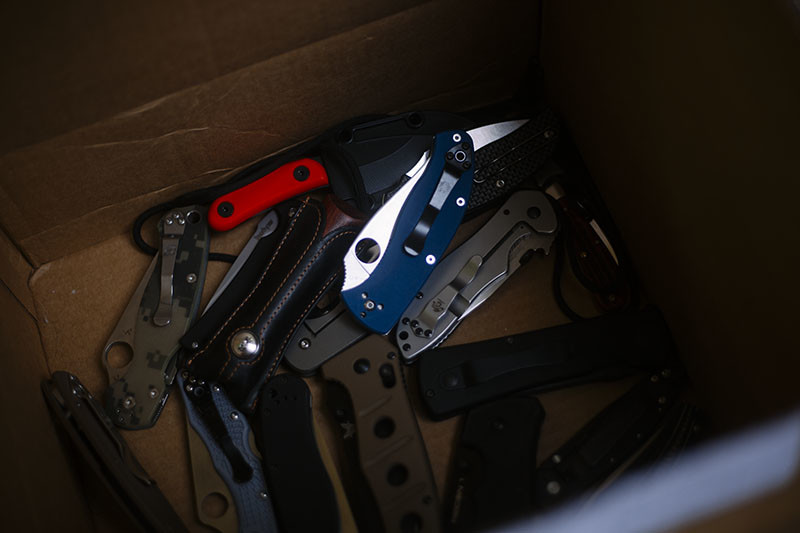 Knife Drop: Best EDC Knives Image Outtakes