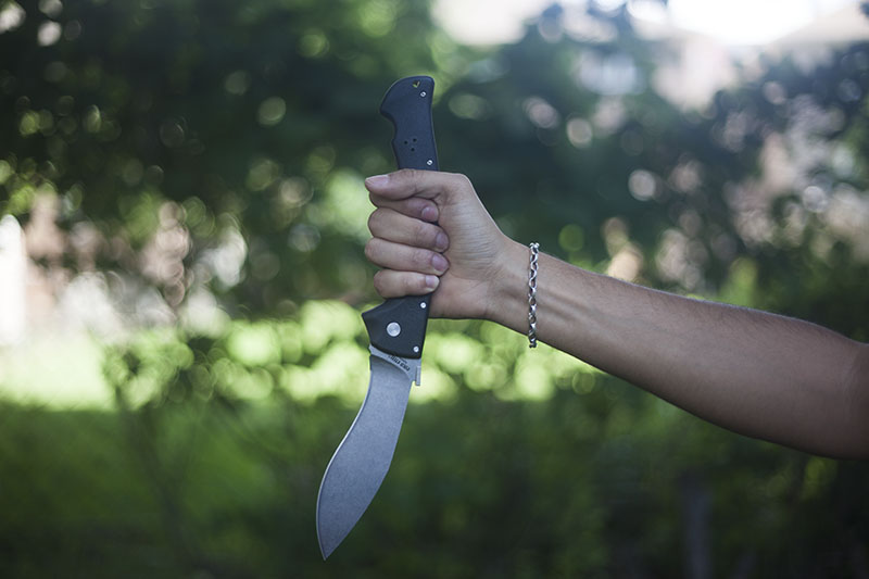 extra large folding knife oversized cold steel rajah ii review
