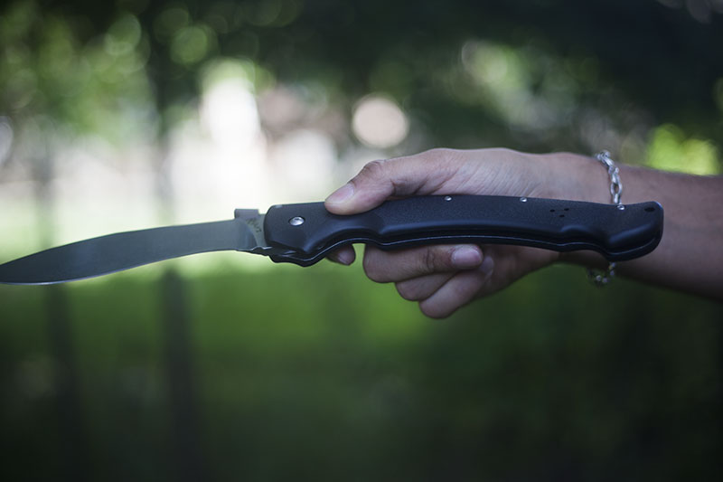 large cold steel pocket knife review rajah ii gear