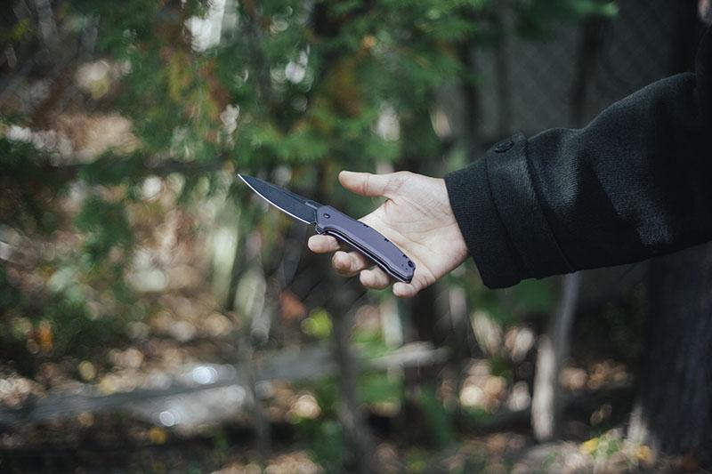 flipper knife assisted open kershaw link review edc gear