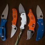 Knife Drop: Blue, Orange, & White Handles