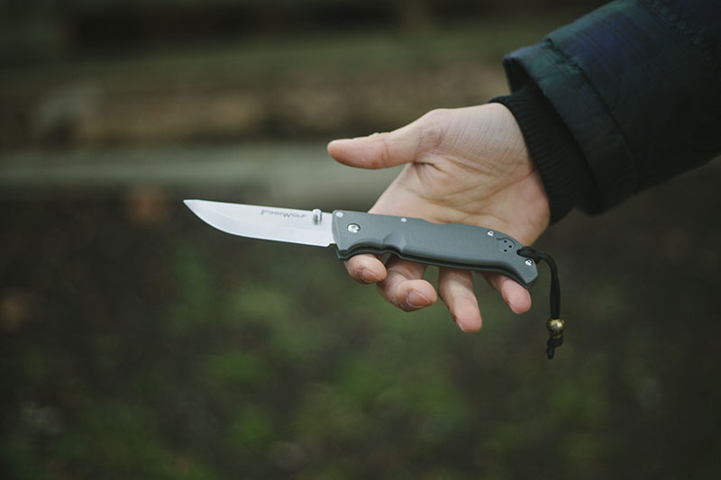 scandi grind edc folding bushcraft knife review cold steel