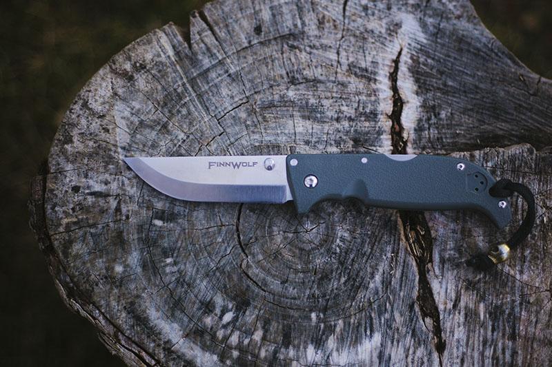 scandi grind edc folding survival knife cold steel finn wolf